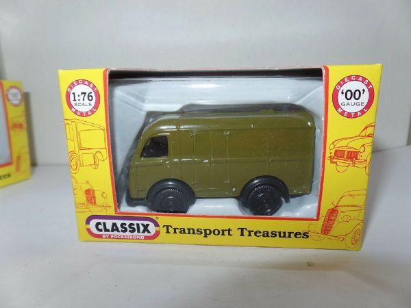 Classix EM76691 1/76 OO Scale Austin K8 3 Three Way Van - Khaki Green